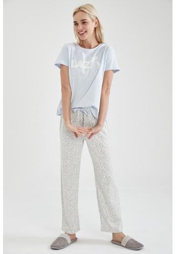 DeFacto grey Woman 2-pieces Homewear Top & Bottom Set 58761AA4E78434GS_1
