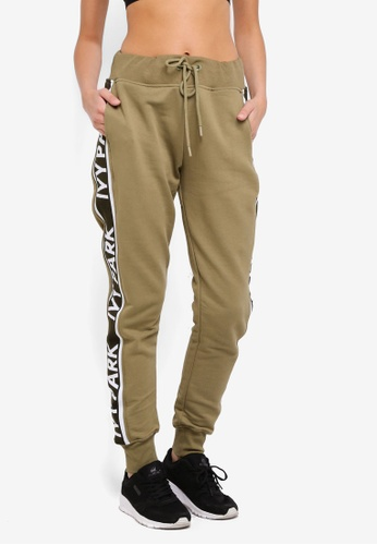 Ivy Park green Logo Tape Joggers A2996AA3B84183GS_1