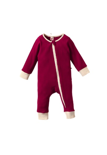 RAISING LITTLE red Poo Romper - Red 9323DKA4D117CAGS_1