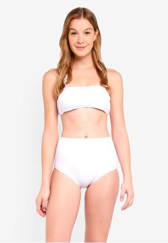 c7683893ded6a PINK N  PROPER white Opulence Calithea Ribbed High-Waist Bikini Set  59AE0USC8C606FGS 1