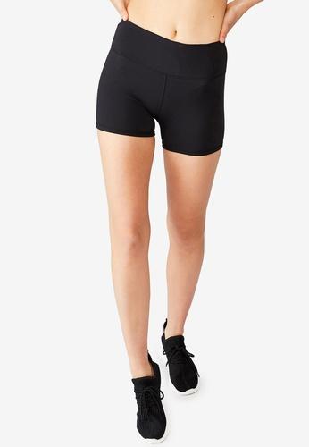 Cotton On Body black High Waisted Shortie Shorts 1BA0EAA77EA54EGS_1