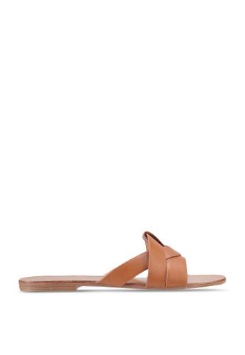 Twenty Two brown Cindra Slide Sandals E8AB6SH5AB9846GS_1