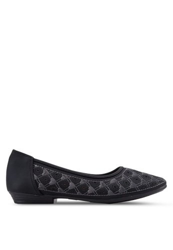 Louis Cuppers black Heart Deco Flats LO977SH58EOFMY_1