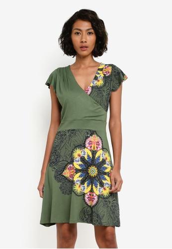 Desigual green Nishta Dress DE160AA0S547MY_1