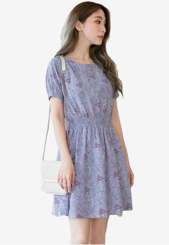Eyescream purple Vintage Print Dress F19D2AA8BCB220GS_1