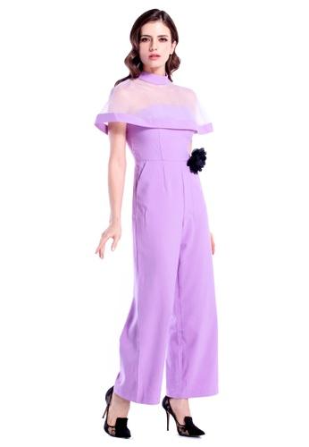 547a2df6e887 DreamTales Wardrobe purple Cape Culottes Jumpsuit 8CBBDAA3A89AB7GS 1
