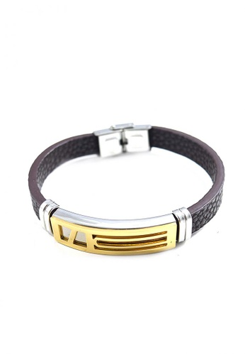 Jewelplace silver Premium Stainless Steel  Leather Bracelet   JE882AC0J5YYPH_1