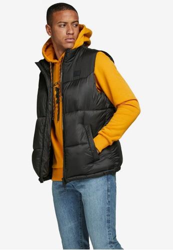 Jack & Jones black Rew Puffer Vest 87765AA6F84FF3GS_1