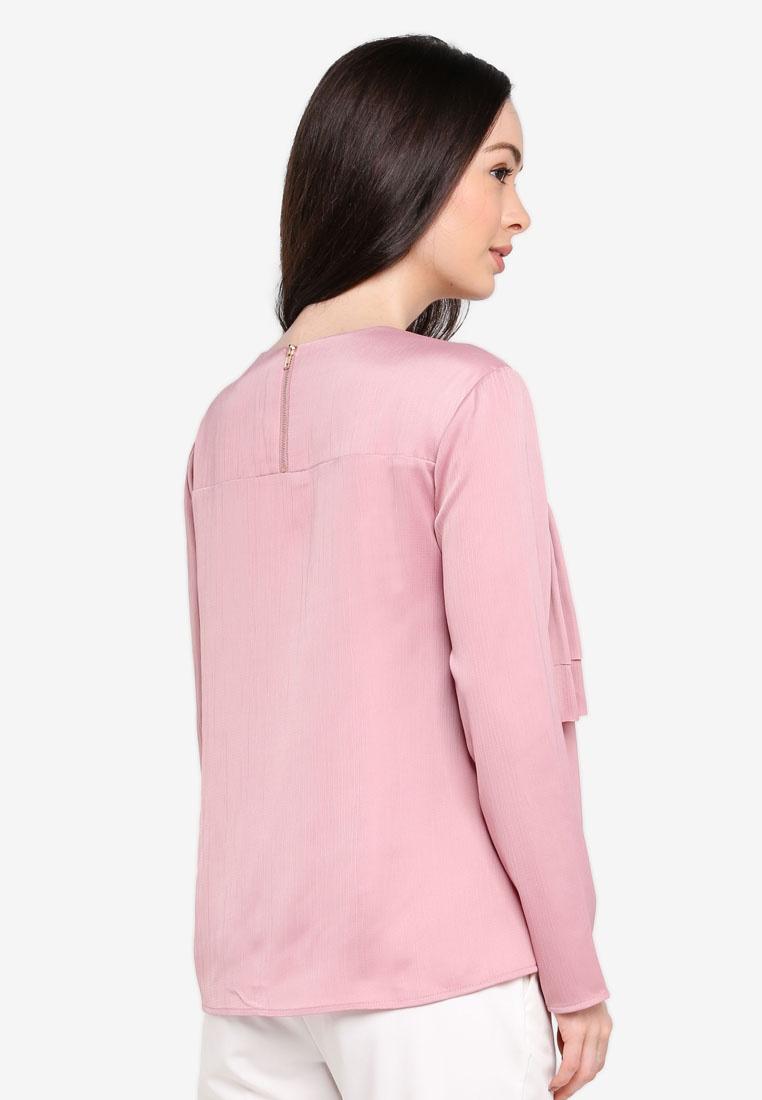Zalia Pink Tiered Gathered Top Dusty Rxrw4Yxq