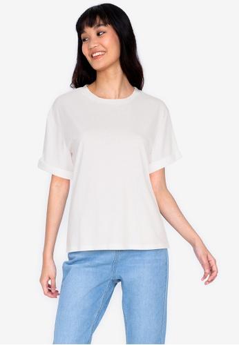 ZALORA BASICS 白色 Casual T-Shirt 20DD4AA9E9432AGS_1
