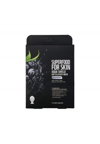 FARMSKIN Farmskin Bio Cellulose Mask - Blackberry Set (5 Pcs/Set) Superfood For Skin Aqua Shield Set DAB95BE482692EGS_1