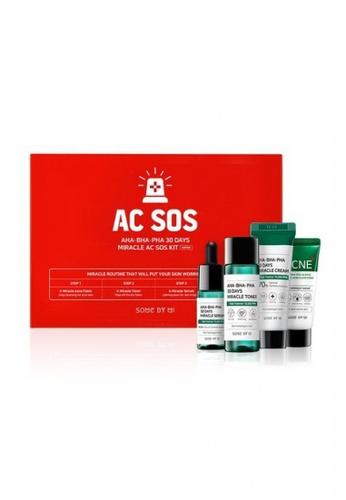 SOMEBYMI Somebymi AHA-BHA-PHA 30 Days Miracle AC SOS Kit (Acne Foam 30ml + Toner 30ml + Serum 10ml + Cream 20g) 5A536BE811B6C4GS_1