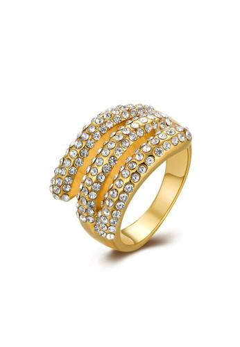 Tiaria yellow Tiaria Popular Ring Gold Plated Aksesoris Perhiasan Cincin KRGPR321-8--K10 778ADACCFA87D8GS_1