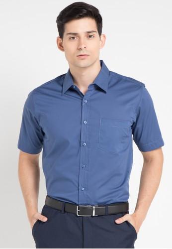 Gianni Visentin blue Slim Fit Shirt GI012AA0WE5EID_1
