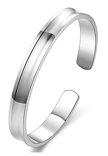 CUFF IT silver Mens Brushed Groove Stainless Steel Bangle 2296CACFAE13B9GS_1