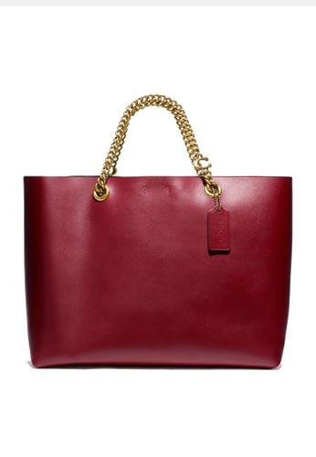 Coach red Signature Chain Convertible Tote Bag (cv) 98C5CAC33DD03FGS_1