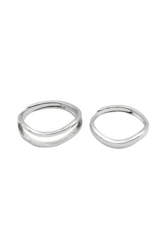 LYCKA silver LDR1339 S925 Silver Simple Irregular Ring 66245AC5DB2BF0GS_1