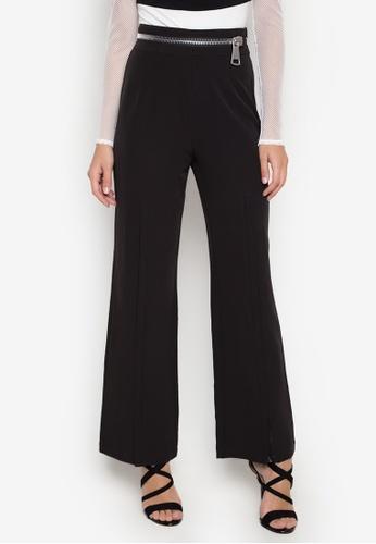 NOBASIC black Zoey Zipper Pants NO444AA0FQI5SG_1