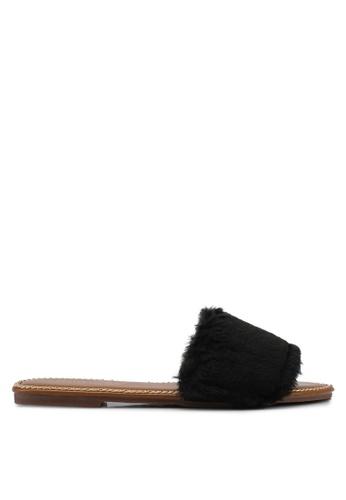 Mimosa black Chain Detail Slip On Sandals 17E18SH8633716GS_1