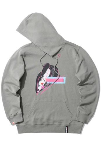 BLOCKAIT grey X Birds of Prey Harley Quinn Lips hoodie 33A70AAD72586AGS_1