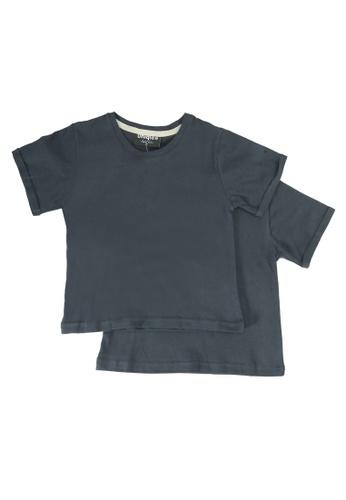 UniqTee grey Folded Short Sleeve Tee 2-Pack 18E28KA5B485DDGS_1