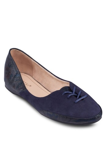 拼接esprit outlet 台中飾帶平底鞋, 女鞋, 芭蕾平底鞋