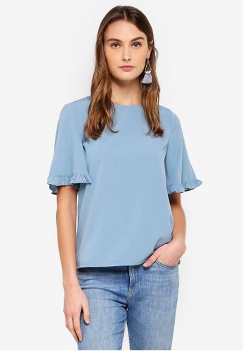 Vero Moda blue Lora 2/4 Top 1FB85AA80422B7GS_1
