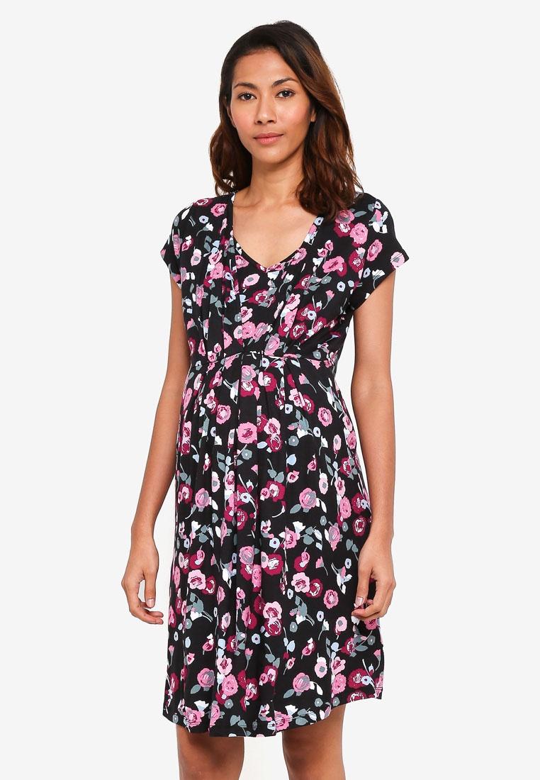 Floral JoJo Bébé Maman Tunic Black Maternity Dress TSdFxgwqq