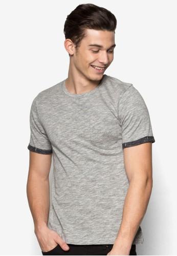 Berring esprit outlet 台灣拼色短袖上衣, 服飾, T恤