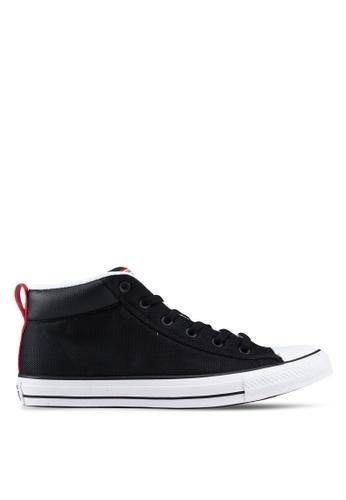Converse black Chuck Taylor All Star Street Uniform Mid Sneakers 771D9SH1E38153GS_1
