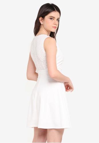 ZALORA white Lace Back Dress 6D144AAB86E712GS_1