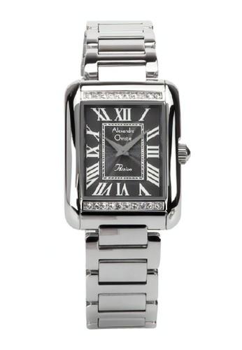 Alexandre Christie silver Alexandre Christie Jam Tangan Wanita - Silver Black - Stainless Steel - 2660 Silver Black 76D75ACEB2A4ADGS_1