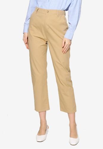 ZALIA BASICS brown Tapered Pants 480C4AA8DB3FD3GS_1