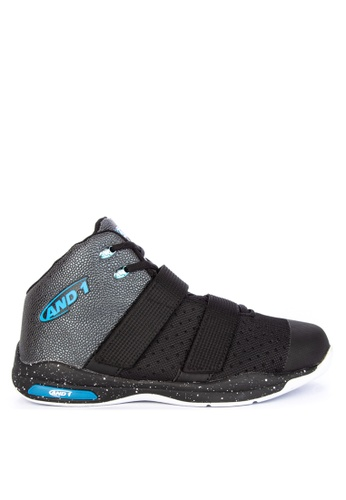 And1 blue and multi Chosen One II Basketball Shoes D040ASH9F1E217GS_1