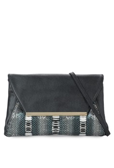 Duo Tone Printed Clutch
