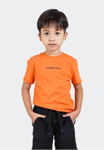 CELCIUS KIDS orange Kaos Sablon Celcius Kids A07401K 3013FKA59310D4GS_1