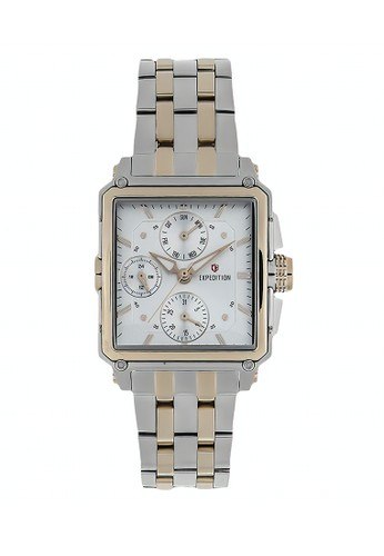 Expedition silver Expedition Jam Tangan Wanita - Silver Light Gold - Stailess Steel - 6618 BFBTCSL  AF5DAAC51DF883GS_1