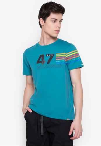 Wrangler green Jersey Cotton T-Shirt 39C07AAAEBA047GS_1