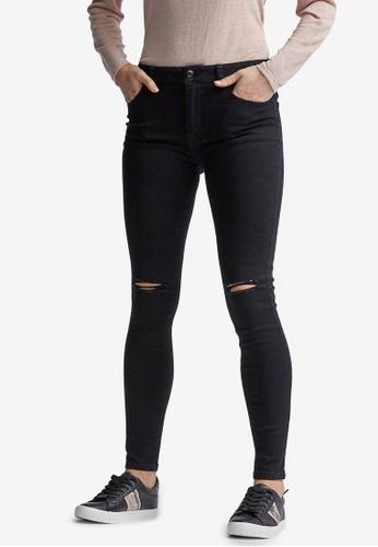 Dorothy Perkins black Black Rip Alex Jeans 76C8CAAB09BAD7GS_1