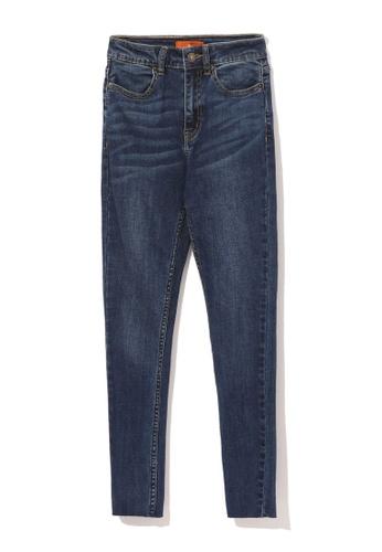 tout à coup navy Cropped skinny jeans 7D38FAA12DE932GS_1