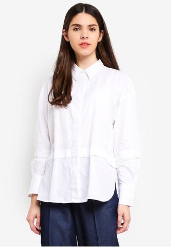 United Colors of Benetton white Cotton Shirt ED22FAA452E66AGS_1