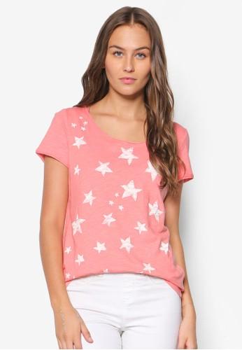 星星圖案棉質T 恤, 韓esprit品牌介绍系時尚, 梳妝