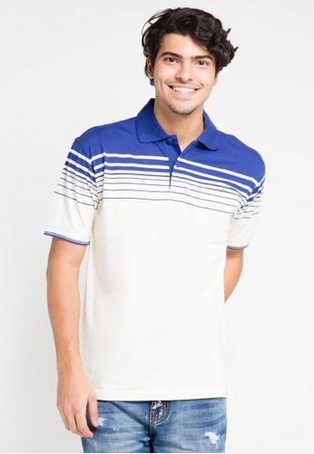 Hassenda white and blue Short Sleeve HA130AA0UUTEID_1