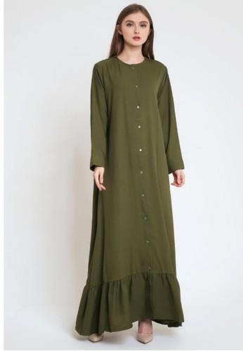 caco. green kors long dress 56E4CAA00493CCGS_1