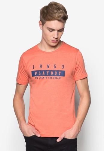 文字印花圓領TEE, esprit香港門市服飾, T恤