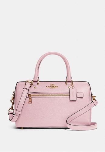 COACH pink Coach Rowan Satchel Crossbody Bag - Blossom 3B8ADAC437A970GS_1