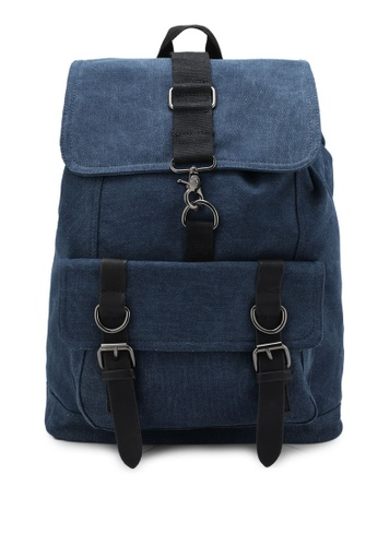 JAXON navy Canvas Backpack 002F7ZZ5666237GS_1
