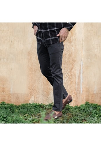 SCOTCH&CO SCOTCHCO Celana Panjang Pria Chinos Casual Slim Fit Stretch Campbell Chino Pants Charcoal 25555-56-32623 23C1AAAE940044GS_1