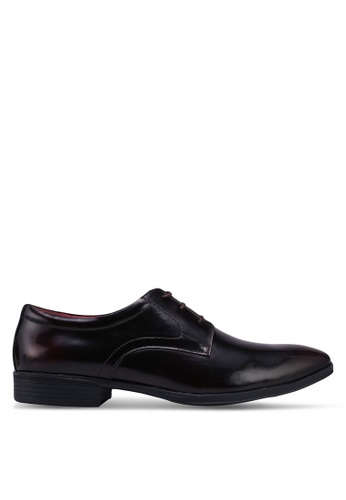 ACUTO red Leather Business Shoes 5077CSH5A98B9BGS_1