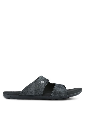 Louis Cuppers black Casual Sandals LO977SH0S9S7MY_1